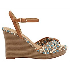 Ravel - V&A Aqua 'Beatrice' ladies peep toe wedges