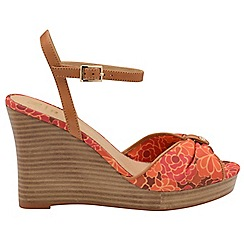 Ravel - V&A Red 'Beatrice' ladies peep toe wedges
