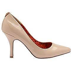 Ravel - V&A Nude Patent 'Helena' ladies court shoes