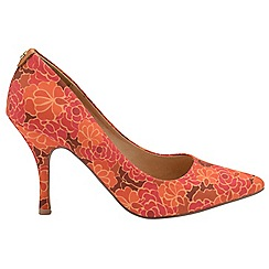 Ravel - V&A Red Floral 'Helena' ladies court shoes