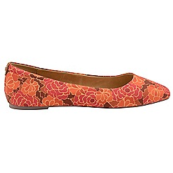 Ravel - V&A Red 'Alice' ladies slip on pumps