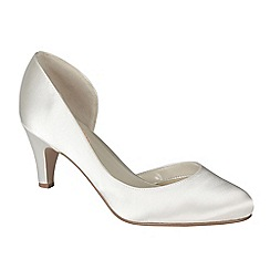 Pink by Paradox London - Ivory satin 'Hyacinth' round toe court shoe