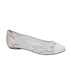 Pink by Paradox London - Ivory satin and lace with mesh 'Sweetie'