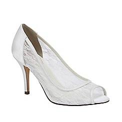 Pink by Paradox London - Ivory lace with mesh 'Scrumptious' peep toe