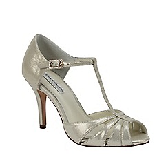 Benjamin Adams - Shimmer leather 'Blake' t-bar sandal