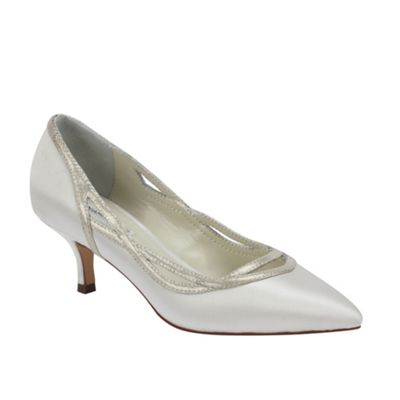 Benjamin Adams Elegant ´Dolores´ pointed pump with shimmer leather detail - . -