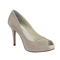 Benjamin Adams - Chic glitter leather and mesh 'Tallulah' peep toe platform