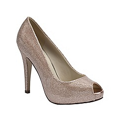 Pink by Paradox London - Glitter peep toe platform 'Yummy'