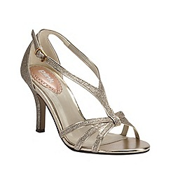 Pink by Paradox London - Strappy glitter 'Vibrant' sandal