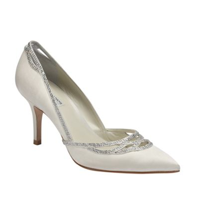 Benjamin Adams Pointed pump ´Margot´ with crystal detail - . -