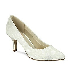 Pink by Paradox London - Cameo pointed court shoe with lace overlay