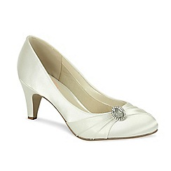 Pink by Paradox London - Satin round toe court with pleats and vintage style trim