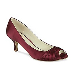 Pink by Paradox London - 'Romantic' pleated peep toe shoe