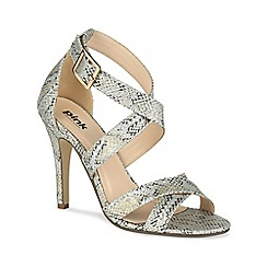 Pink by Paradox London - Snake print 'Rococo' cross strap sandal