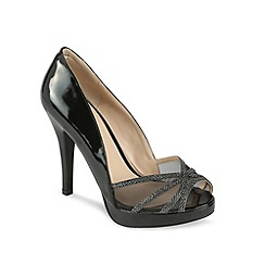 Pink by Paradox London - Platform 'Thrill' peep toe with mesh and glitter vamp