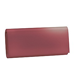 Pink by Paradox London - Pink satin 'Shadow' clutch handbag
