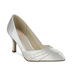 Pink by Paradox London - Pleated front 'Flute' classic mid heel court