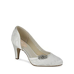 Pink by Paradox London - Lace cut out court shoe with trim virtue