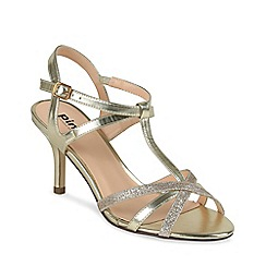 Pink by Paradox London - Glitter georgina t-bar sandal