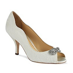 Benjamin Adams - Lace covered  dakota peep toe