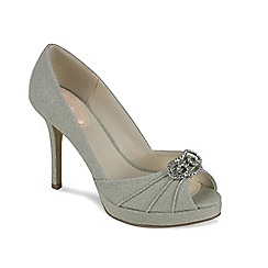 Pink by Paradox London - Vintage trim peep toe platofrm lavish