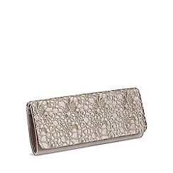 Pink by Paradox London - Galaxy satin  lace clutch bag