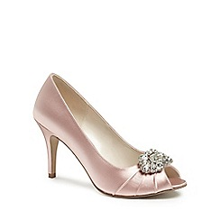 Pink by Paradox London - Satin 'tender' high heel stiletto peep toe shoes