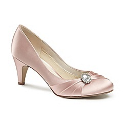 Pink by Paradox London - Satin 'harmony' mid kitten heel court shoes