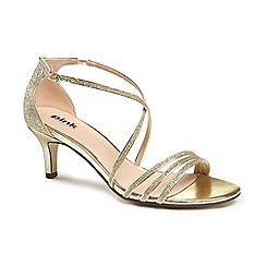 Pink by Paradox London - Glitter 'isla' mid kitten heel sandals