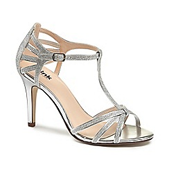 Pink by Paradox London - Glitter 'phoebe' high heel stiletto t-bar sandals