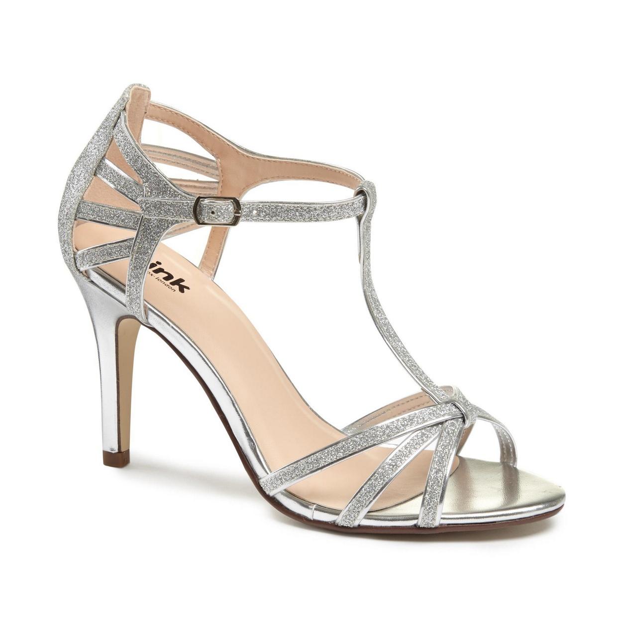 Black sandals debenhams - Pink By Paradox London Glitter Phoebe High Heel Stiletto T Bar Sandals