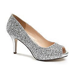 Pink by Paradox London - Glitter 'Riley' peep toe