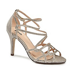 Pink by Paradox London - Strappy glitter 'Robyn' sandal