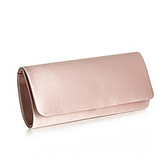 Pink by Paradox London - Blush Satin 'Shadow' clutch handbag