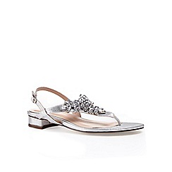 Pink by Paradox London - Silver Embellished 'Flame' flat sandal