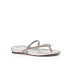 Pink by Paradox London - Silver Diamante 'Athena' flat sandal