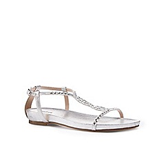 Pink by Paradox London - Silver Figure 8 'Kaylee' flat sandal