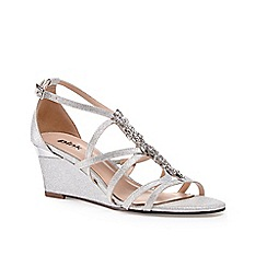 Pink by Paradox London - Light Silver Low wedge 'Hadley' sandal