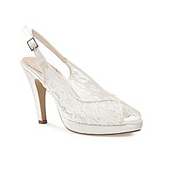 Pink by Paradox London - Peeptoe lace platform 'Affinity' shoe