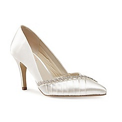 Pink by Paradox London - Jewel trim 'Union' pleated court shoe