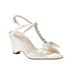 Pink by Paradox London - Jewel trim 'Sand' wedge sandals