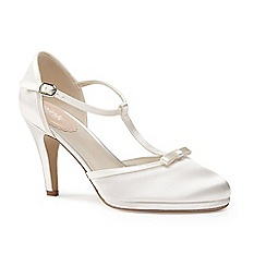 Pink by Paradox London - Platform T-bar 'Misty' bow trim open court