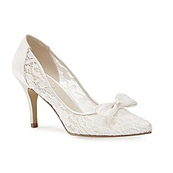 Pink by Paradox London - Ivory Lace bow 'Promise' court shoe