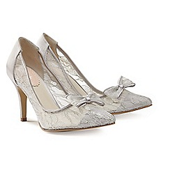 Pink by Paradox London - Silver Lace bow 'Promise' court shoe
