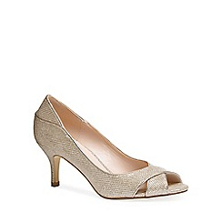 Pink by Paradox London - Glitter 'adele' mid heel stiletto peep toe shoes