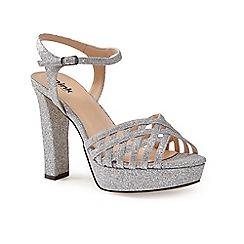 Pink by Paradox London - Silver glitter platform 'Petra' sandal