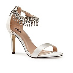 Pink by Paradox London - Ivory diamante anklet Tamara sandals
