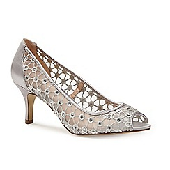 Pink by Paradox London - Silver Diamante mesh 'Breeze' peep toe court