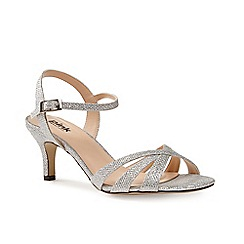 Pink by Paradox London - Silver strappy glitter 'Shelby' sandal