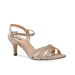 Pink by Paradox London - Beige strappy glitter 'Shelby' sandal